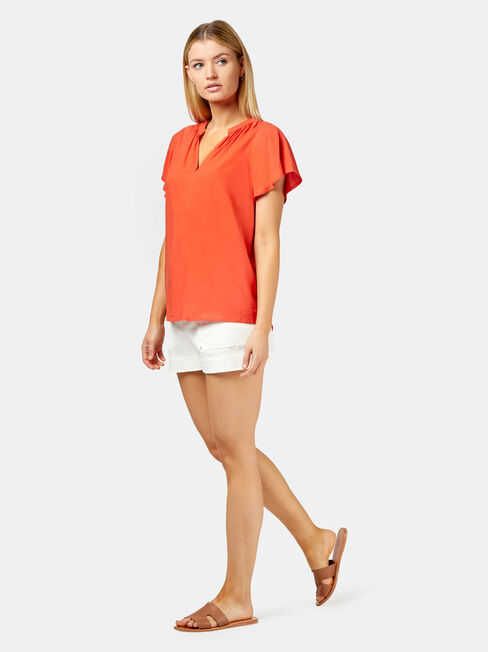 Becca Blouse, Red, hi-res