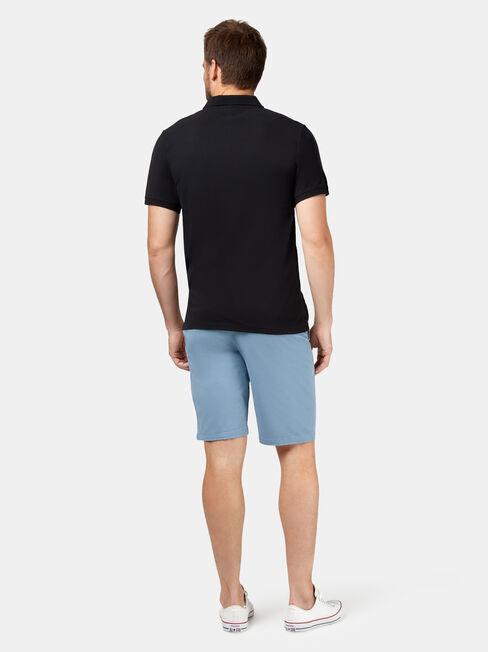 Brent Short Sleeve Pique Polo, Black, hi-res