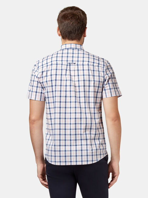 Xavier Check Shirt, White, hi-res
