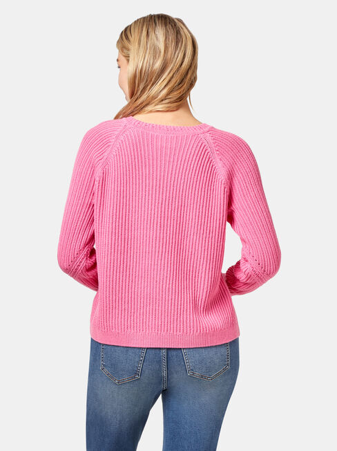 Felicity Stitch Pullover, Pink, hi-res