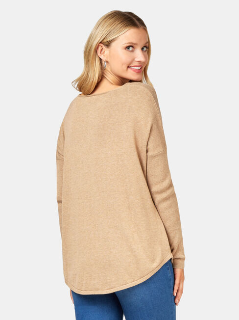 Mia Swing Pullover, Brown, hi-res
