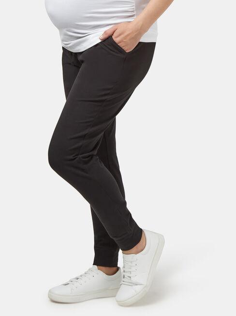 Louisa Drop Crotch Jersey Pant, Black, hi-res