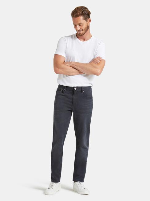 Slim Tapered jeans Blackened Blue, Black, hi-res