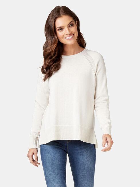 Stella Cotton Knit, White, hi-res