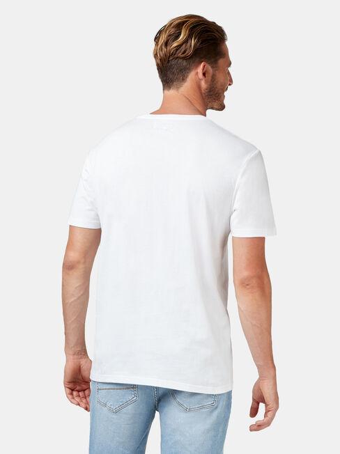 Conway Short Sleeve Print Crew Tee, White, hi-res