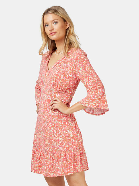 Molly Ladder Dress, Orange, hi-res