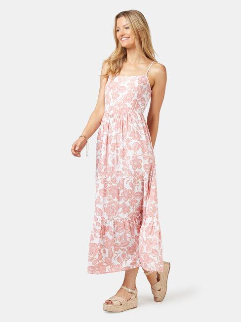 Nova Tiered Cami Dress, Print, hi-res
