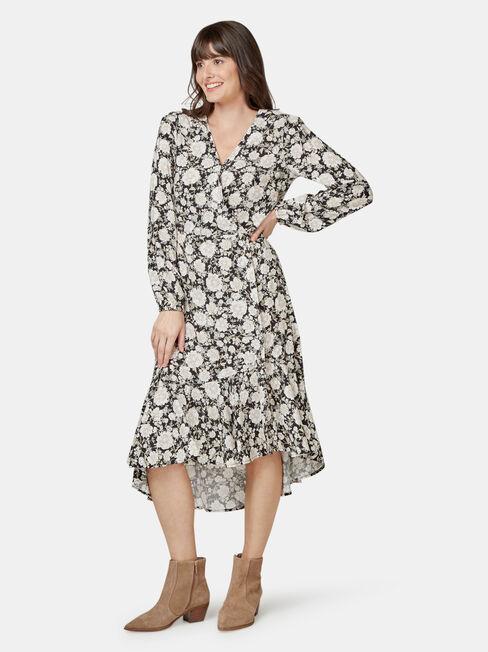 Sandy Concave Long Sleeve Dress