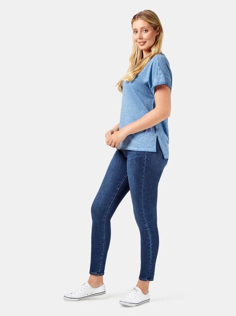 Shelley Garment Dye Tee, Blue, hi-res