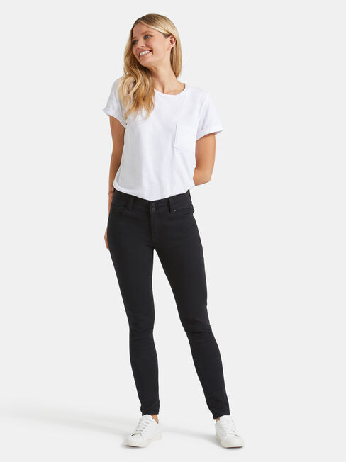 Hip Hugger Skinny Jeans Black Night, Black, hi-res