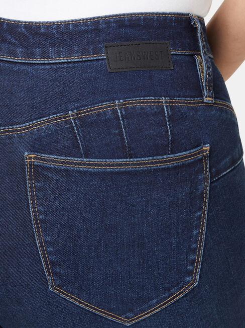 Curve Embracer Butt Lifter Skinny Jeans Dark Vintage, Dark Indigo, hi-res