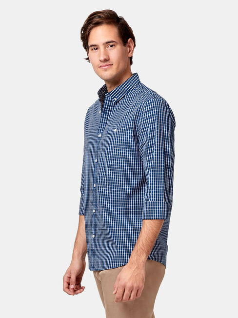 LS Jeremy Check Shirt, Blue, hi-res