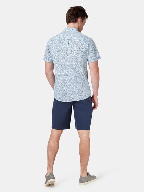 Coby Short Sleeve Print Shirt, Blue, hi-res