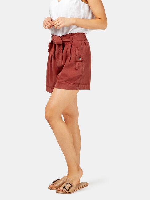 Nova Paperbag Short, Red, hi-res