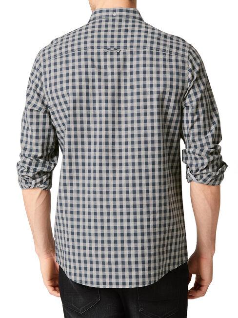 LS Watkins Check Shirt, Blue, hi-res