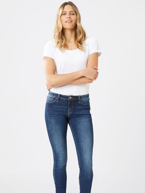 Skinny jeans Mid Vintage, Mid Indigo, hi-res