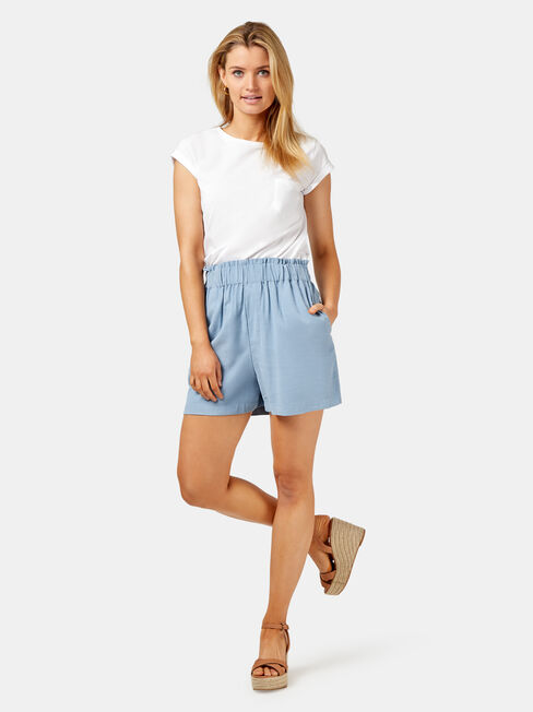 Harlow Pull On Short, Blue, hi-res