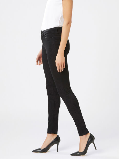 Skinny Jeans Absolute Black, Black, hi-res