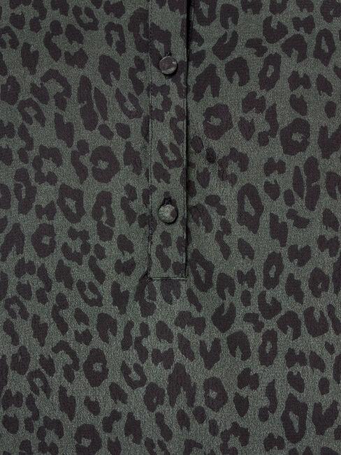 Kiara Volume Sleeve Blouse, Green, hi-res