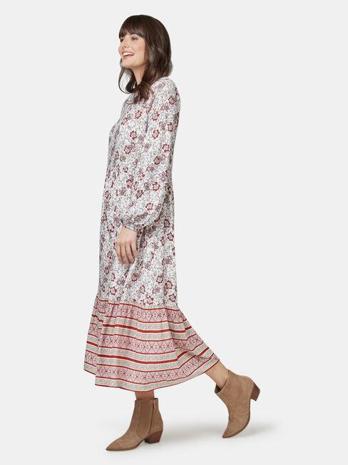 Tina Tiered Border Dress