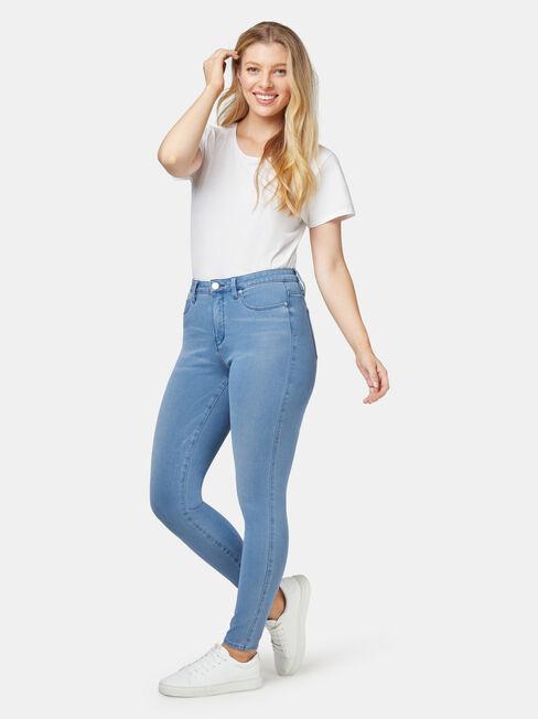 Freeform 360 Contour Curve Embracer Skinny 7/8 Jeans Steel Blue