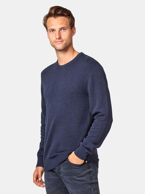 Walker Crew Knit, Blue, hi-res