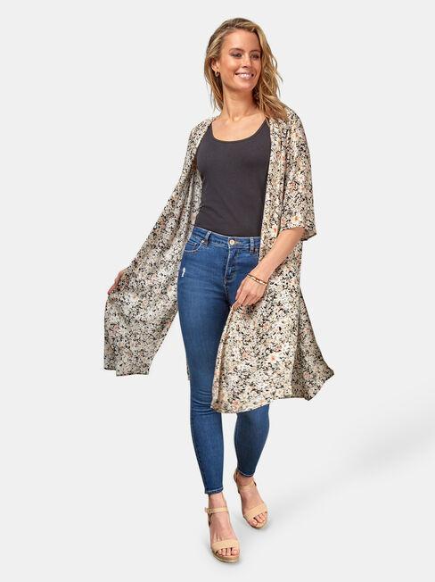 Monica Longline Kimono, Multi, hi-res