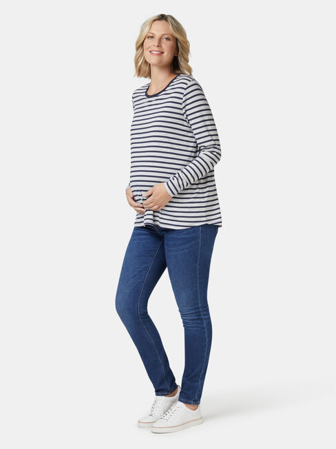 Tina Maternity Tee, Blue, hi-res