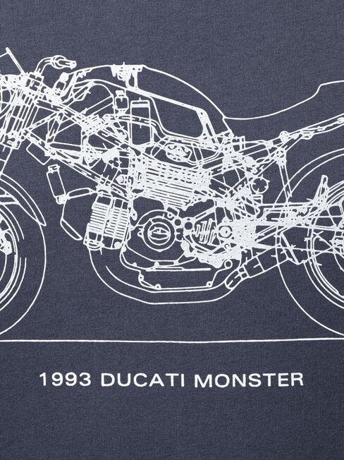 Ducati Short Sleeve Tech Print Crew Tee, Blue, hi-res