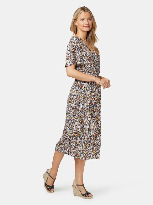 Veronica Button Thru Dress, Floral, hi-res