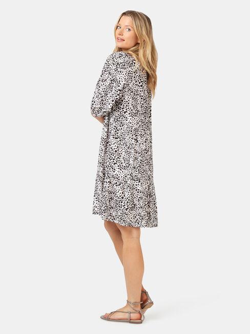 Jasmine Tiered Beach Dress, Grey, hi-res