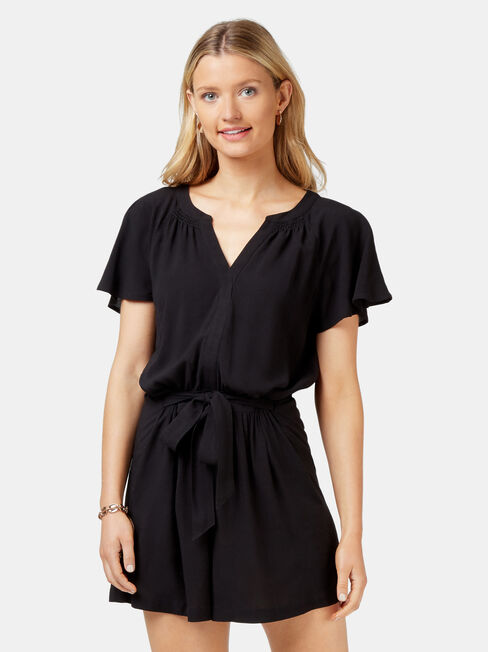 Casey Playsuit, Black, hi-res