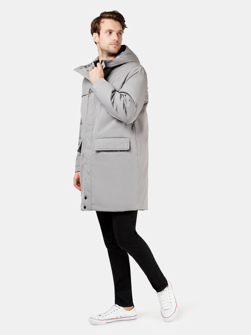 Dwait Longline Jacket, Grey, hi-res
