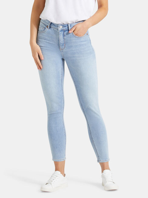 Lacey Mid Waist skinny Crop Jeans