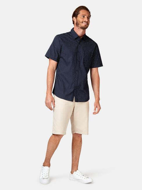 Devon Short Sleeve Print Shirt, Blue, hi-res
