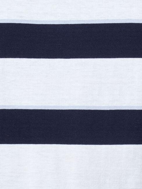 Maxton Short Sleeve Stripe Crew Tee, Multi, hi-res