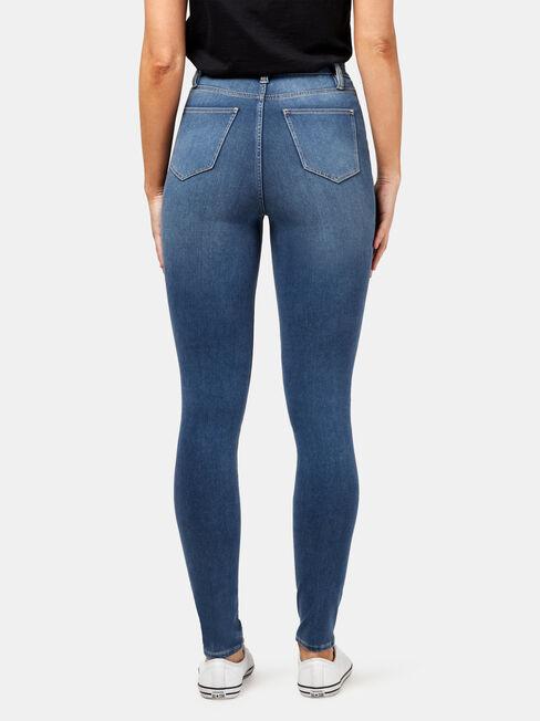 Freeform 360 Contour Skinny High Waisted Jeans, Mid Indigo, hi-res