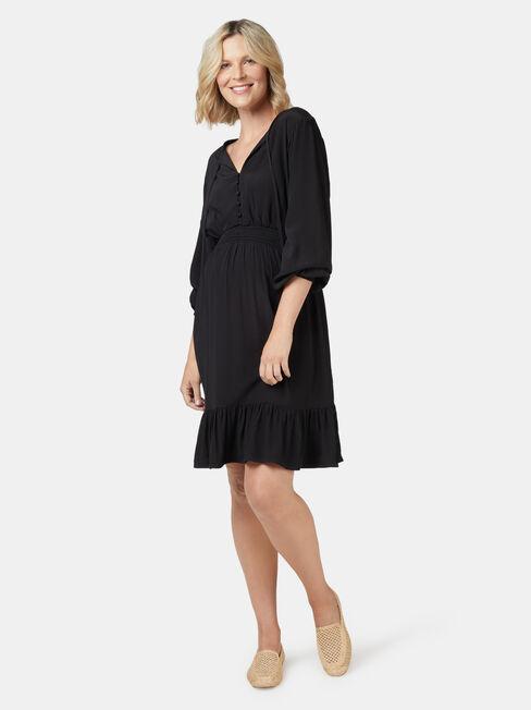 Bronte Maternity Dress, Black, hi-res