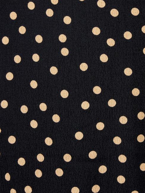 Imogen Split Midi Skirt, Black, hi-res