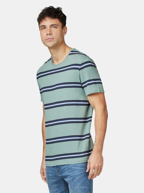 Porter Short Sleeve Stripe Crew Tee, Stripe, hi-res