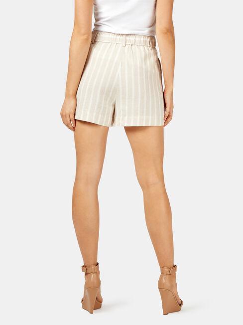 Peyton Yarn Dye Stripe Short, White, hi-res