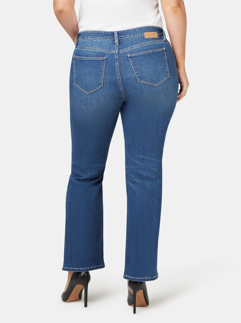Curve Embracer Bootcut Jeans Blue Lake, Mid Indigo, hi-res