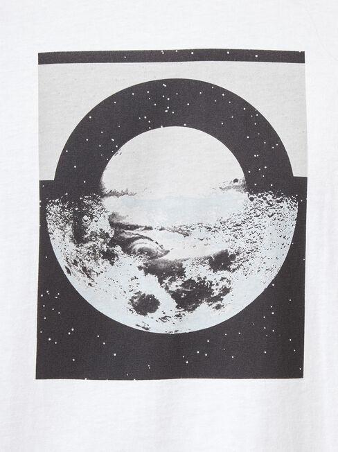 Cole Short Sleeve Print Crew Tee, White, hi-res
