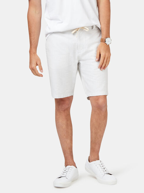 Jones Tie Front Short, Grey, hi-res