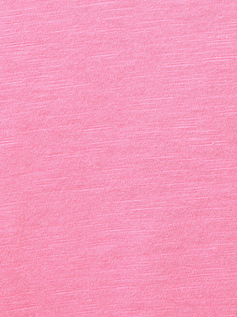 Essential V-Neck Tee, Pink, hi-res