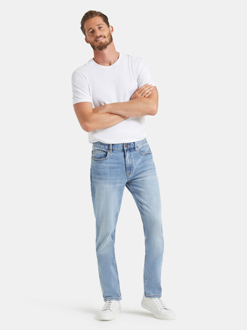 Slim Tapered Jeans Modern Blue, Light Indigo, hi-res