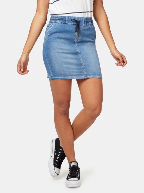Nina Luxe Lounge Knit Denim Skirt