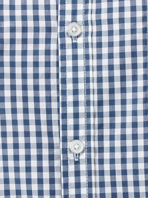 Calvin Long Sleeve Gingham Shirt, Blue, hi-res