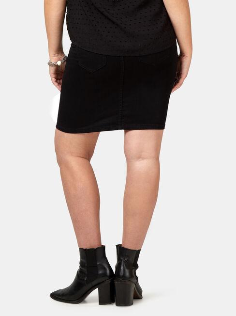 Kat Maternity Distressed Skirt, Black, hi-res