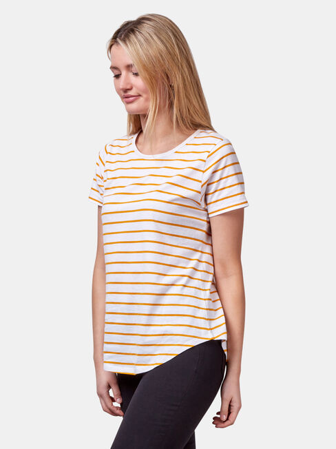 Essential Crew Neck Tee, Yellow, hi-res